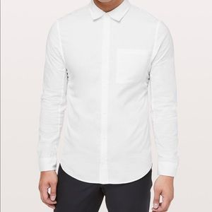Lululemon White Button down shirt size S